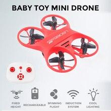 Mini Drone de poche avec télécommande Quadcopte RC avec lumière LED RC hélicoptère jouets pour enfants # E