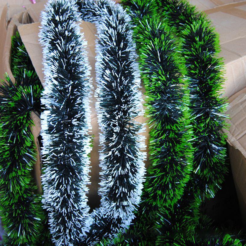 200 см разноцветное Рождественское украшение, топы, лента, гирлянда, Рождественская елка, украшения, белый, темно-зеленый, трость, мишень, вече...