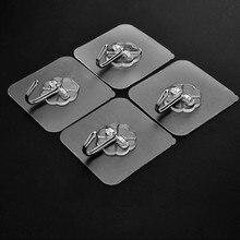10 шт. крепкие крючки прозрачные самоклеющиеся дверные настенные вешалки присоска настенная вешалка для кухни аксессуары для ванной комнаты