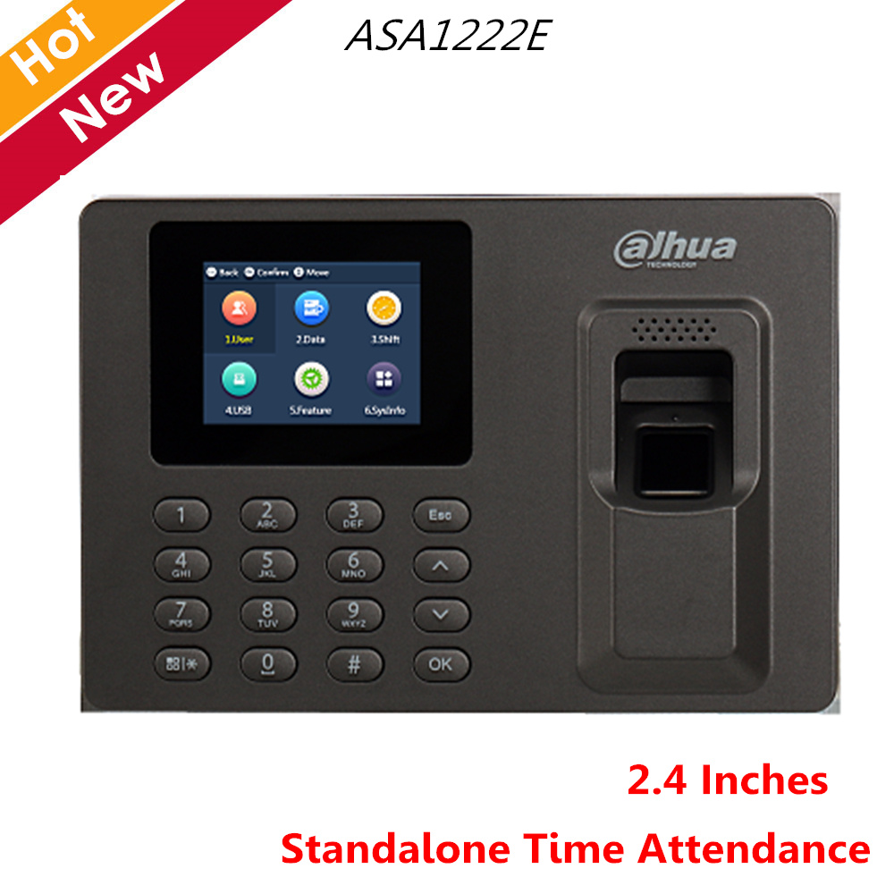 Dahua Access Control Standalone Time Attendance ASA1222E 2.4 Inches TFT Color Screen Multiple Verification Voice Indicate