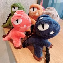 3D Cute Plush Cartoon Dinosaur Hair Ring Accessories Anime Mickey Hair Rope Rubber Bands Girl Ponytail Headdress Fashion Hairpin cute cartoon girl mickey hair rope minnie doll anime daisy donald headband for kid knotted hair loop women holder headdress gift