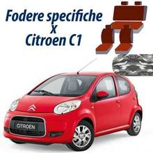 COPRISEDILI AUTO CITROEN C1 FODERE SPECIFICHE MIMETICO CHIARO POSTERIORE 50-50