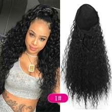 Синтетические длинные кудрявые вьющиеся волосы deyngs с высоким