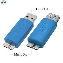 YuXi USB 3.0 Type A Male Female to USB 3.0 Micro B Male Plug Connector Adapter USB3.0 Converter Adaptor AM to Micro B usb 3 0 am to micro b male cable 1 8m length