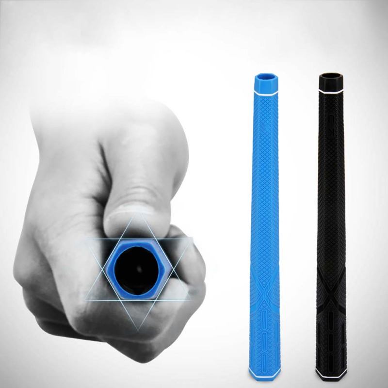 Standard Size Pro Club Golf Grip Hexagonal Lightweight Slip Resistance Rubber Grip For Practice Gestures For Iron And Wooden