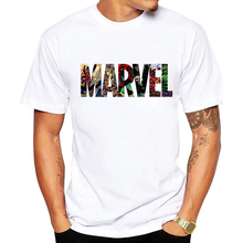 LUSLOS 2019 Men's Casual Marvel Printed T Shirt Fashion Streetwear O-Neck Male Tshirt Man T-shirt Tee Top camiseta masculina