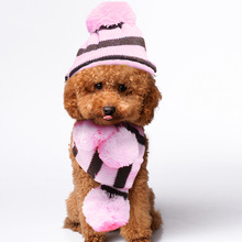 3 шт./компл. Pet головной убор для собак Чихуахуа Мопс бихон вязаная шапка шарф для маленьких собак зимняя одежда для щенков набор шапка s для собак, чтобы согреться G3
