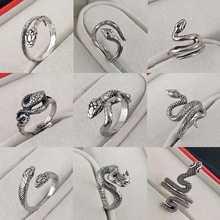 Simple snake ring Korean creative fashion cobra hipster ring unisex ten 2020