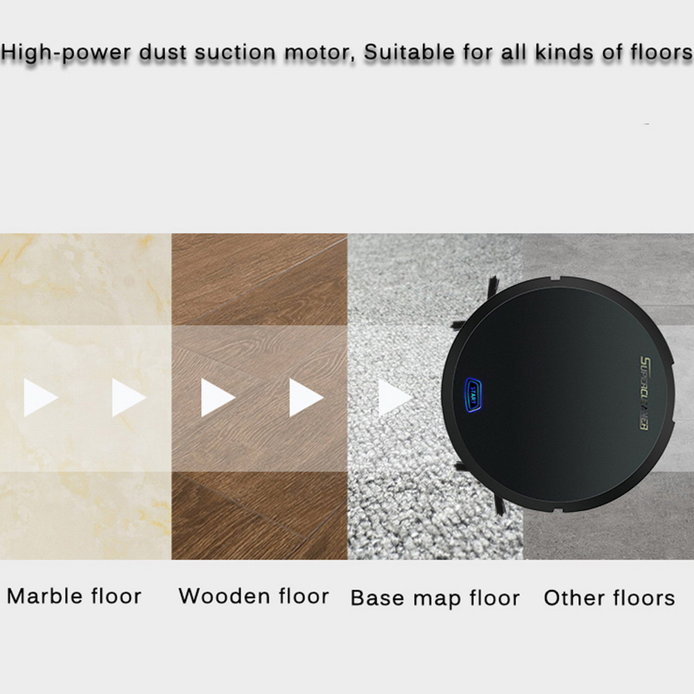 Electric Floor Dirt Dust Powerful Office Anti-fall USB Toy Home Hair Rechargeable Auto Vacuum Cleaner Sweeping Robot Gift