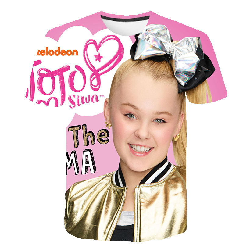Boys Clothes Jojo Siwa 3D Print T Shirts For Girls Billie Eilish 2020 Summer Short Sleeve For Kids Teens Tops Children Clothes