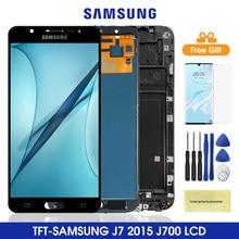 Pantalla Lcd J700 para Samsung Galaxy J7 2015 J700, montaje de digitalizador con pantalla táctil para Samsung J700 J700F J700M