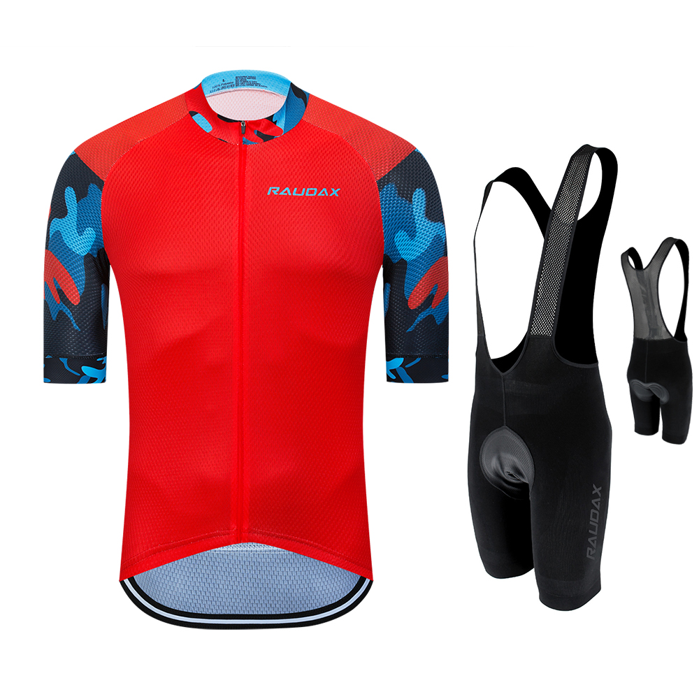Mens Cycling Jersey Bib Shorts Set Sportswear Team Bike Outfits 2020 Summer