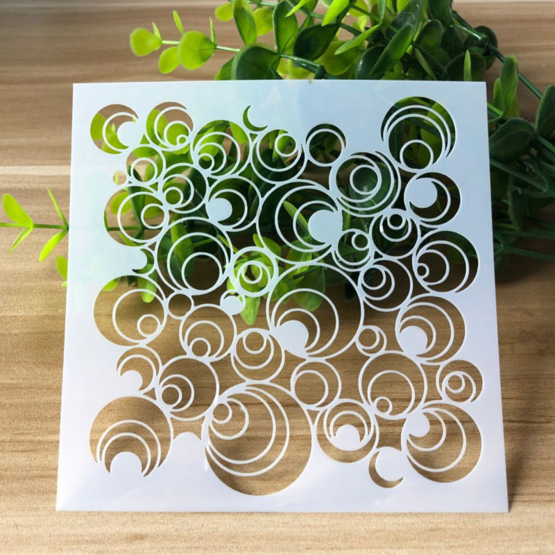 13* 13cm  Flower DIY Stencils Painting Scrapbook Coloring Embossing Album Decorative Paper Card Template