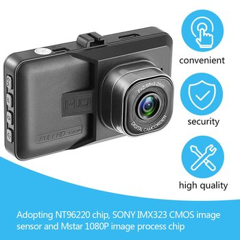 3 Inch DVR 120 Degree Wide Angle Dash Cam Dual Lens 1080P WIFI Car Digital Video Recorder With Night Vision Function image