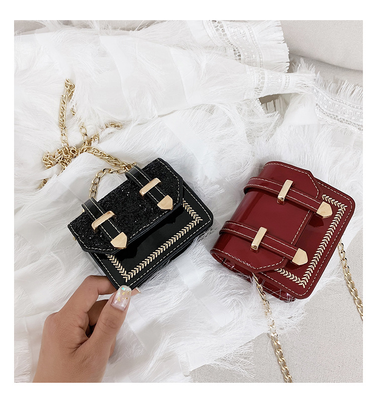 Newest Style Fashion Kid Girl PU Leather Crossbody Small Bag Body Cross Bag Shoulder Bag Hot Sale 4 Colors