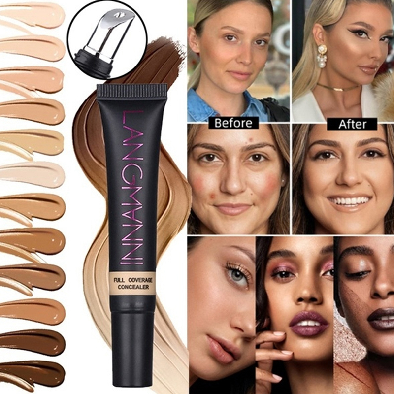 Concealer Cream Long Lasting Mineral Foundation Matte Base Makeup Cover Eye Dark Circles Face Smooth Texture
