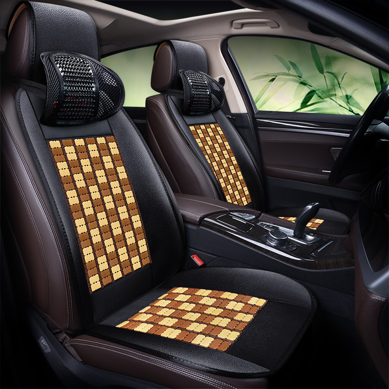 Bamboo Automobile Seat Cushion Summer Cool Pad Breathable Seat Cover C TREK Blue LED Rui Cheng CC Tiida Logo 408CX 3 - 3