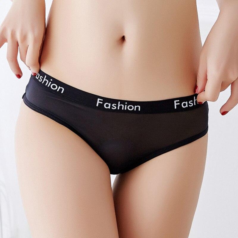Women's Panties Sexy Ladies Cotton Mesh Transparent Panties Thongs G-String lingerie Low-Rise Women Underwear Seamless Briefs