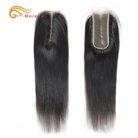 Htonicca Hair 2X6 Kim K Closure Brazilian Straight Closure With Baby Hair Middle Part Swiss Lace Remy Human Hair Free Shipping