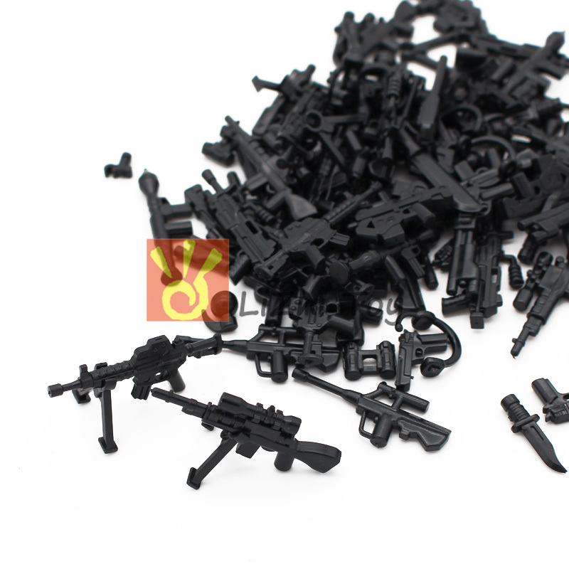 Lizhi Legoing Military Set Army City Police Gun Weapons Series Pack City Soldiers SWAT Building Blocks Toys For Childrens Kids