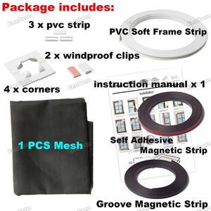 Image 2 - Регулируемый магнитный оконный экран «сделай сам», окна для автодомов, съемная моющаяся невидимая москитная сетка для мух, сетка на заказ