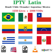 Latin Iptv Brazilië Subscriptio Hbo Nba Iptv Cinema Chili Mexico Argentinië Peru Voor Android Smart Tv Box Ssiptv H96 Max mags(China)