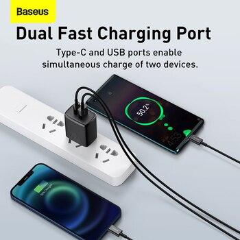 Сетевое зарядное устройство Baseus с двумя USB-портами и поддержкой быстрой зарядки, 20 Вт 2