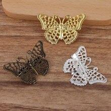 Металлическая застежка бабочка 10 шт/лот застежки брошь базовая