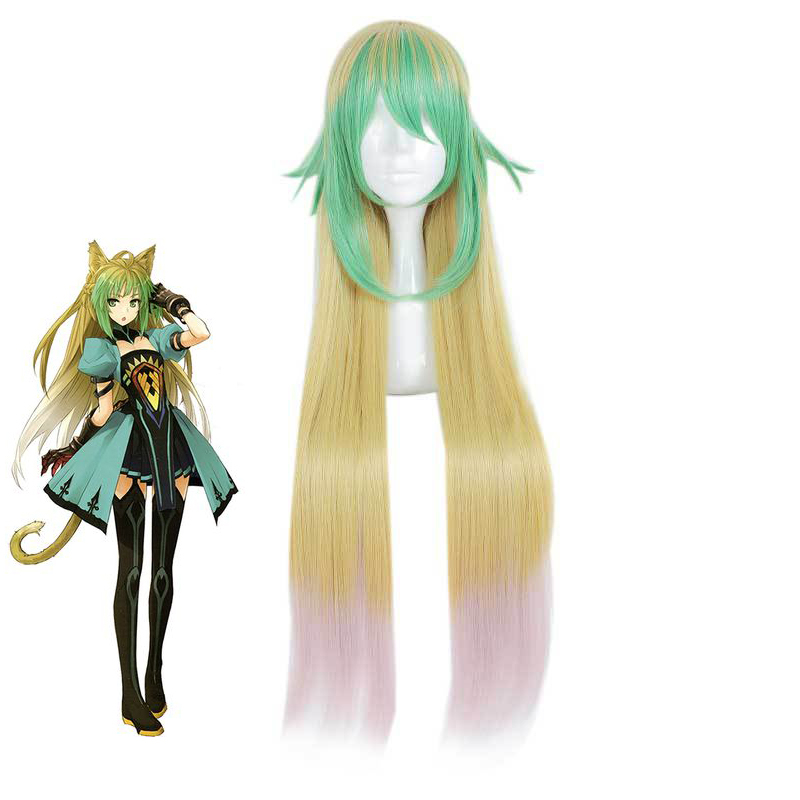 Game Fate/apocrypha Atalanta Cosplay Wigs Color Mixing Long Heat Resistant Synthetic Hair Perucas Anime Costume Wig
