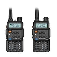 2 個 baofeng UV 5R 双方向ラジオミニポータブル 5 ワットデュアルバンド vhf uhf トランシーバー UV5R fm トランシーバ狩猟アマチュア無線スキャナ