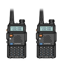 2Pcs Baofeng UV 5R Zwei Weg Radio Mini Tragbare 5W Dual Band VHF UHF Walkie Talkie UV5R FM Transceiver jagd Ham Radio Scanner