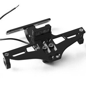 PCX LOGO Motorrad Roller Einstellbare Lizenz Platte Halterung Halter Rahmen Anzahl Platte Für Honda PCX125 PCX150 2014-2019 2018