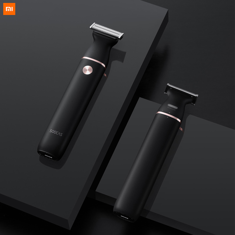 Xiaomi Youpin SOOCAS Electric Razor Small T-Blade Black Three-way Blade For Fast Shaving Dry And Wet Double Shaving Fast Charge