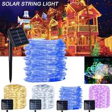 50/100 Led Solar String Light Waterproof 8 Lighting Modes Copper Wire Light String Christmas Lamp Wedding Party Garden Decor dcoo solar led string light 100 light 8 modes fairy lighting garden party christmas holiday outdoor lighting wedding decoration