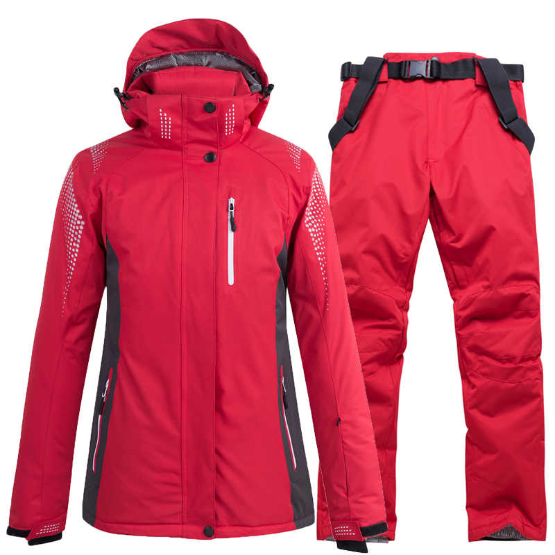 Sci giacche e pantaloni da Uomo e donne tuta da sci Snowboard set Molto Caldo Antivento Impermeabile Da Neve all'aperto Abiti Invernali