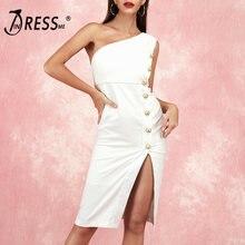Indressme 2019 Модное Новое Женское платье на одно плечо без
