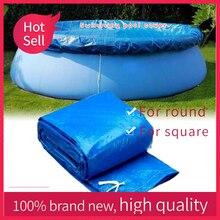 Cubierta de gran tamaño para piscina, soporte de tela, cubierta de piscina, cubierta de polvo para piscina inflable, pañal redondo PE para jardín al aire libre