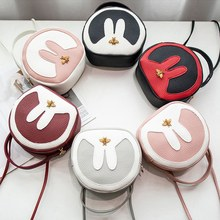 Cute Rabbit Ear Handbags Women Leather Handbags Female Shoulder Bags Girls Crossbody Bags Candy Color Hand Bags