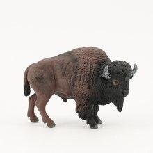 Фигурки американского бизона модели животных экшн игрушки высокое