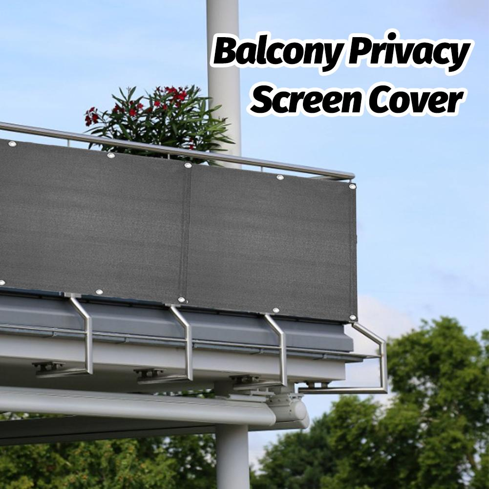 Balcony Shelter Privacy Screen Cover Wind Swimming Pool Summer Fence Cover Breeze Sewing Buckle Outdoor Awning Sunshade Net