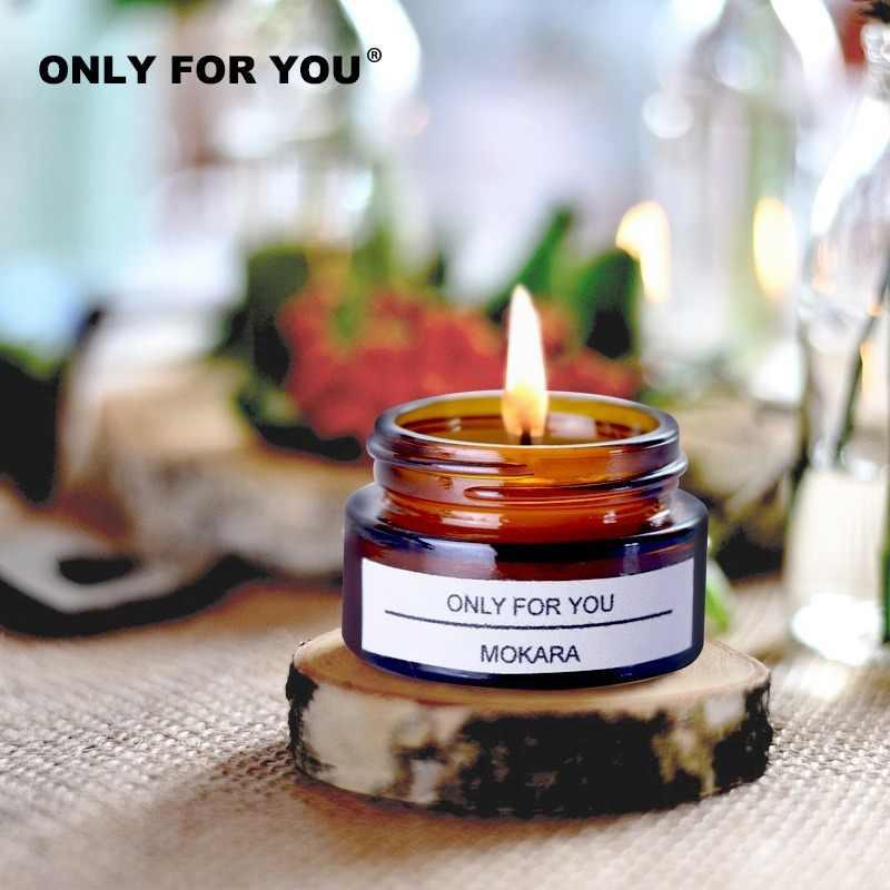 UEXCN Lot de 12 bougies parfum/ées en cire de soja naturelle parfum/ées pour d/écoration de la maison
