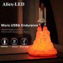 2020 новая декоративная настольная лампа с 3d принтом ракеты