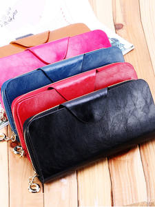 Mobile Wallet Clutch Cowhide Zipper Long Men's Couple First-Layer New-Products