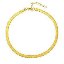 Collier plat en acier inoxydable, couleur or, 4mm, chaîne serpent étanche, bijoux cadeaux pour hommes et femmes