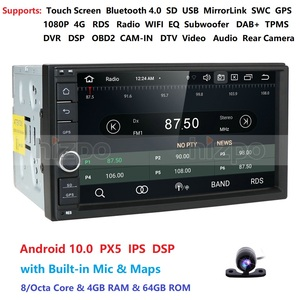 Image 5 - 4GRAM 64ROM 8Cores 7 Android 10.0 Auto Radio 2DIN Universal Car NO DVD player GPS Stereo Audio Head unit Support Bluetooth DAB