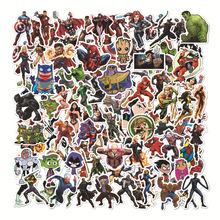 104pcs/set Marvel Hero Stickers for Luggage Laptop Skateboard Suitcase Motorcycle Car Styling Decals Fashion Waterproof