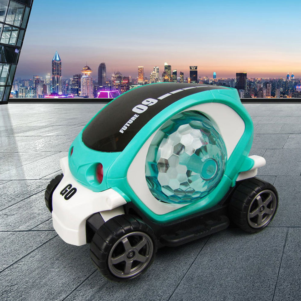 Kids 3D Electric Car Toy Supercar Style With Universal Wheel Light Music Car Toy Early Educational Kids Boys Girls Birthday Gift
