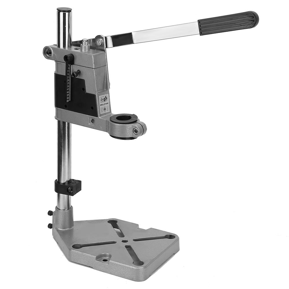 Liyeehao Drill Stand for Hand Drill Shop or Home Adjustable Drill Stand Universal Drill Bench Stand Drill Press Stand Workbench Repair Tool Drill Bench Clamp Stand