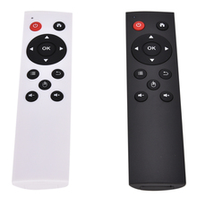 Controle remoto universal sem fio 2.4g, controle remoto para teclado de ar para pc android tv box preto/branco
