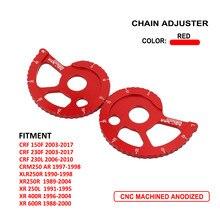 Ajustador Cadeia do Alumínio Regulador de moto Kit Para HONDA CRF150F CRF230F CRF230L CRM250 AR XLR250R XR250R XR250L XR400R XR600R